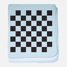 Checkered baby blanket