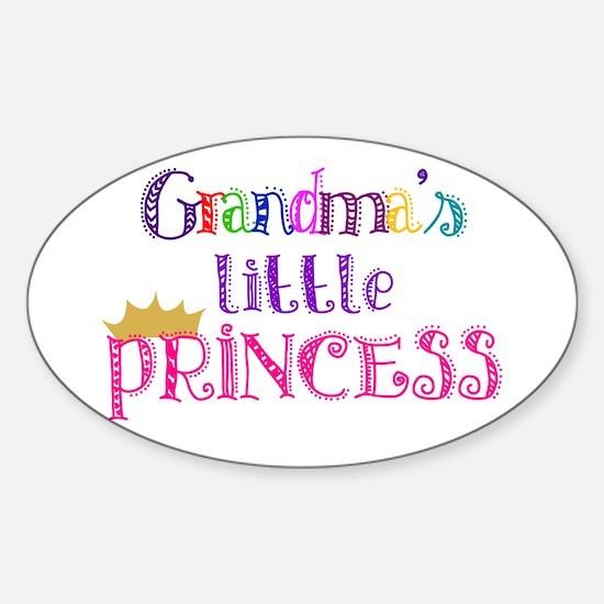 Grandma's little Princess Oval Decal