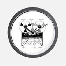 Classic Reel-to-Reel Wall Clock