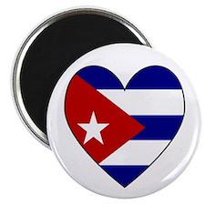 Cuban Flag Heart Magnet