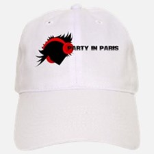 Black Paris party Baseball Baseball Cap