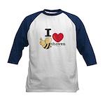 I Love BEEthoven Kids Blue Baseball Jersey