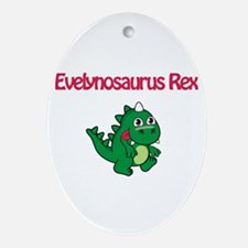 Evelynosaurus Rex Oval Ornament