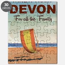 Take a Train to Devon vintage travel poster Puzzle