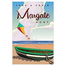 Margate Kent vintage Coach travel poster Poster