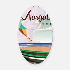 Margate Kent vintage Coach travel  Oval Car Magnet