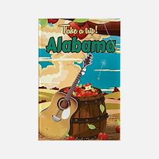 Alabama vintage travel poster Rectangle Magnet