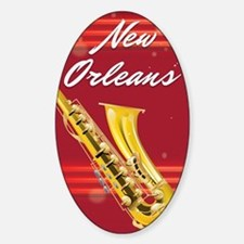 New Orleans Saxophone travel poster Decal
