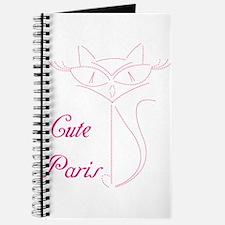 cute paris cat Journal