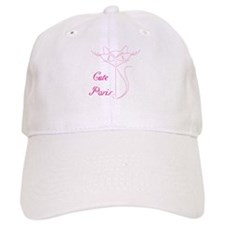 cute paris cat Baseball Cap
