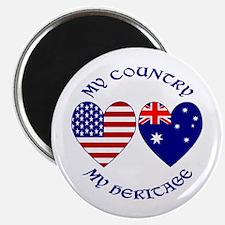 "USA / Australian Heritage 2.25"" Magnet (10 pack)"