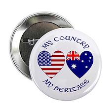 USA / Australian Heritage Button