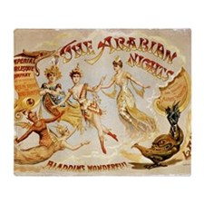 The Arabian Nights Burlesque Throw Blanket