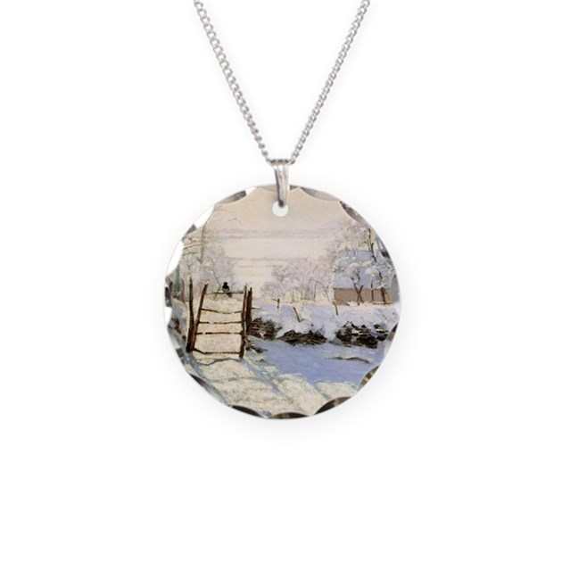 magpie by monet necklace circle charm by maidenvoyage