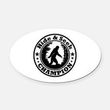Hide and seek world champion Oval Car Magnet