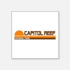 "Unique Capitol city Square Sticker 3"" x 3"""