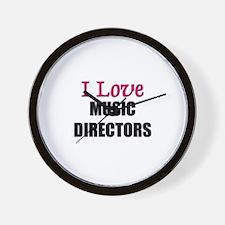 I Love MUSIC DIRECTORS Wall Clock