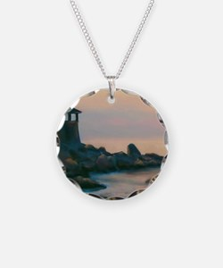 Artistic Lighthouse Warm Sun Necklace
