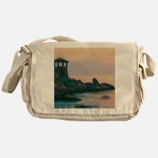 Artistic Lighthouse Warm Sunset Messenger Bag