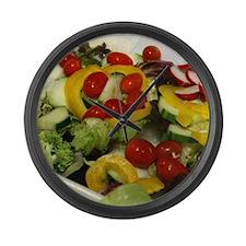 Fresh Garden Salad Large Wall Clock
