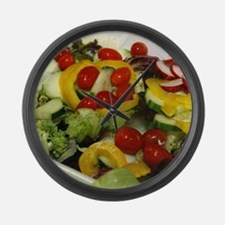 Fresh Garden Salad Large Wall Clock
