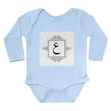 Ayn Arabic letter 3 A monogram Body Suit