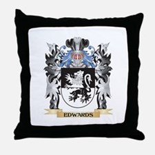 Edwards Coat of Arms - Family Crest Throw Pillow
