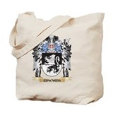 Edwards family crest Canvas Totes