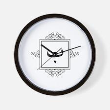 Baa Arabic letter B monogram Wall Clock