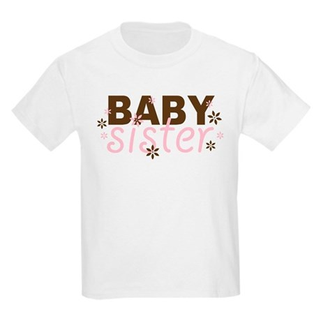 Baby Sister Pink/Chocolate Kids Light T-Shirt