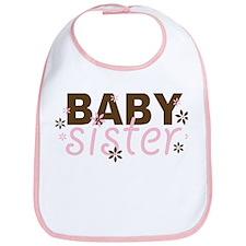 Baby Sister Pink/Chocolate Bib