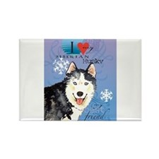 Cute Breeds Rectangle Magnet (10 pack)