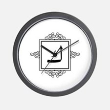 Kaaf Arabic letter K monogram Wall Clock