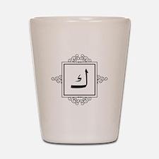 Kaaf Arabic letter K monogram Shot Glass