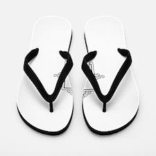Nuun Arabic letter N monogram Flip Flops