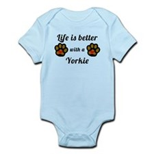 Life Is Better With A Yorkie Body Suit