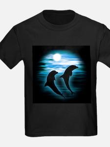 Midnight Dolphins bg T-Shirt