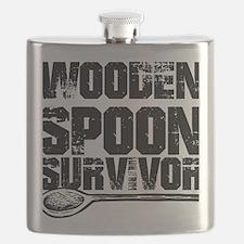 wooden spoon survivor Flask