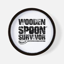 wooden spoon survivor Wall Clock