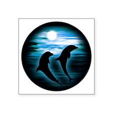 Midnight Dolphins copy Sticker