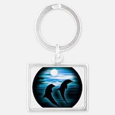Midnight Dolphins copy Keychains