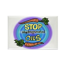 Stop Hydrogenated Oils Rectangle Magnet