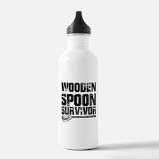 wooden spoon survivor Water Bottle