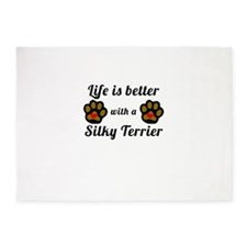 Life Is Better With A Silky Terrier 5'x7'Area Rug