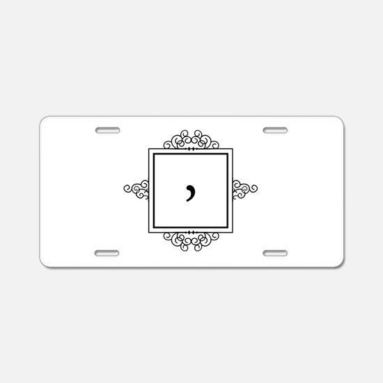 Waaw Arabic letter W monogram Aluminum License Pla