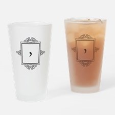 Waaw Arabic letter W monogram Drinking Glass