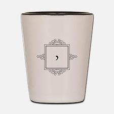Waaw Arabic letter W monogram Shot Glass