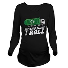 Recycling Truck Long Sleeve Maternity T-Shirt