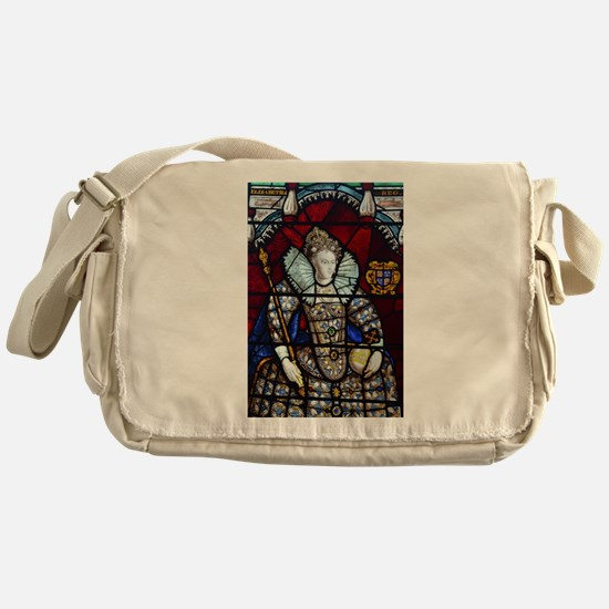 Queen Elizabeth I Stained Glass Messenger Bag