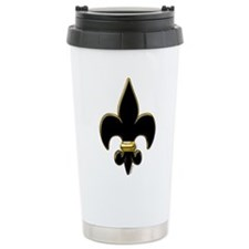 Fleur De Lis Black and Travel Mug